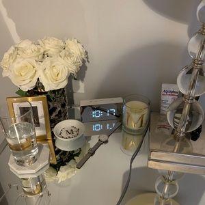 Silvered Mirrored Alarm Clock